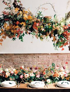 fall wedding shoes Our Favorite Wedding Decor + De. fall wedding shoes Our Favorite Wedding Decor + Details from Overgrown wild floral i. Fall Wedding Flowers, Fall Wedding Colors, Green Wedding Shoes, Floral Wedding, Autumn Wedding Ideas October, Whimsical Wedding Decor, Autumn Wedding Decorations, Centrepiece Wedding, Hanging Flowers Wedding