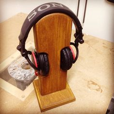 Headphone stand.