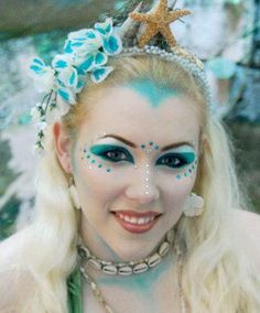 """Another entry: """"The Mermaid"""" Make up and headdress by Sirenia Solaris. Photography by Kayla Morrill"""