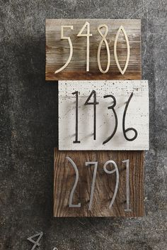 Unique and modern, these stylish house numbers are forged from iron with one of three finishes. The brass-plated and pewter-toned numbers are lacquered, while t