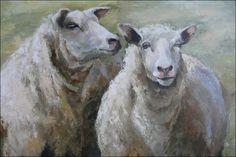 De Galerie  laura wijsman Sheep Paintings, Animal Paintings, Animal Drawings, Wooly Bully, Sheep Art, Art Populaire, Cow Painting, Farm Art, Animal Pillows
