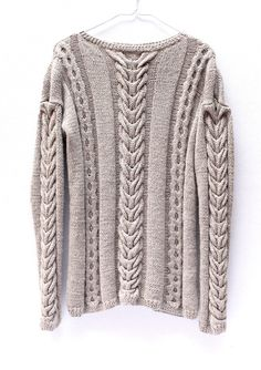 Gesture Sweater. We Are Knitters. Hand knit cable sweater. Baby Alpaca.