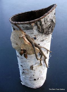 Large Birch Bark Vessel with Mushroom and by TheBentTreeGallery, $79.00