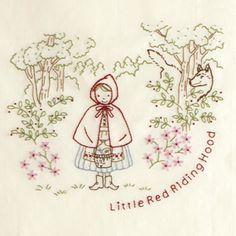 モチーフクロス<赤ずきん> Pattern Quotes, Hand Embroidery Patterns, Red Riding Hood, Little Red, Monograms, Baby Quilts, Needlework, Alice, Cross Stitch