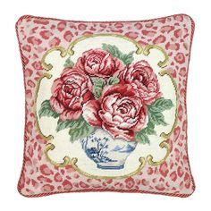 Dress you sofa, settee, or guest bed in a blend of classic comfort and safari-chic appeal with the intriguing Leopard Roses Pillow. #jossandmain