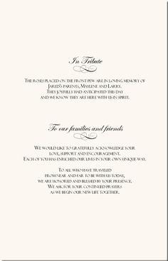 rose wedding program examples wedding program wording wedding ceremony programs wedding directories order of service church directories program covers