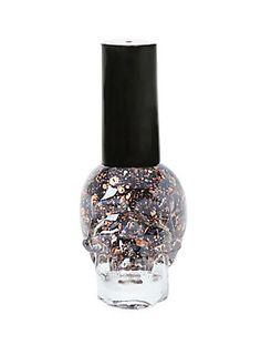 <p>Nail polish shade in a skull bottle.</p>  <p>Polish accordingly.</p>  <ul> <li>.4 fluid ounces</li> <li>Imported</li> </ul>