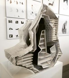 """nexttoparchitects: """" #next_top_architects From the Undergraduate Thesis reviews at SCI-Arc today. This is the work of Dan Lu (advisor: Darin Johnstone). #Sciarc photo by @dwayneoyler """""""