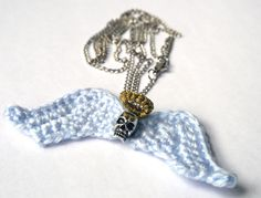 Crochet necklace - The first one I made is a bit larger and decided it didn't look nice as a necklace (but would work well as a brooch if you'd like to make a statement!). Now I made another smaller version, just as a necklace pendant.