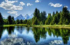 The Tetons, Wyoming.