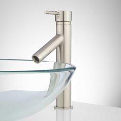 Rotunda Slanted Spout Single-Hole Vessel Faucet - Bathroom Sink Faucets - Bathroom http://www.signaturehardware.com/bathroom/bathroom-sink-faucets/11-rotunda-single-hole-vessel-faucet-with-slanted-spout.html