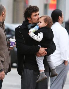 Chech this out... Orlando Bloom And His Son Flynn who wears NUNUNU outfit,  Shop In Beverly Hills !  Celebrity Baby Scoop