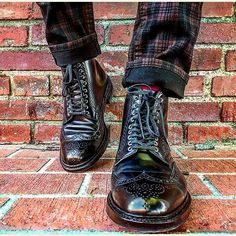aldenofcarmel Model Modified with nickel eyelets. Photo by Andrew Carr Alden Cordovan, Cordovan Shoes, Mens Boots Fashion, Fashion Shoes, Shoes Style, Cords, Hats For Men, Shoe Collection, Get Dressed