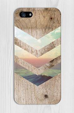 California Skies Ocean Wood Design Phone Case