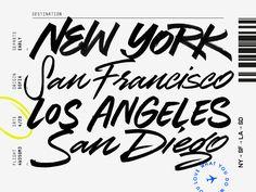 NY > SF > LA > SD by Max Pirsky - Dribbble