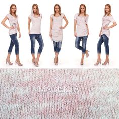 #magentafashion #fashion #womenfashion #knitted #top #denim #jeans #lookbook #look #trends #outfit #ss14 Magenta, Denim Jeans, Capri Pants, Trends, Outfit, Spring, Top, Style, Fashion