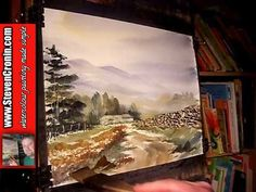 Watercolour Landscape Painting Demonstration featuring Eskdale in the Lake District Part 2 of 2 - YouTube