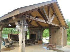 pavillion garten Gorgeous wooden a - gartenwell Backyard Pavilion, Outdoor Pavilion, Backyard Patio, Gazebo, Grange Restaurant, Outdoor Rooms, Outdoor Living, Outside Living, Building A Shed