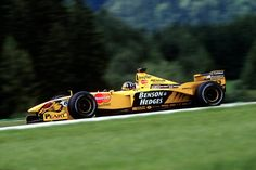 Damon Graham Devereux Hill (GBR) (B&H Jordan), Jordan 199 - Mugen–Honda (finished 1999 Austrian Grand Prix, Damon Hill (Austria Damon Hill, F1 Racing, Drag Racing, Austrian Grand Prix, Car Fuel, Sand Rail, Formula 1 Car, Valentino Rossi, Benetton