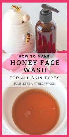 DIY honey facial wash for acne, dry skin, mature skin, sensitive skin. Homemade anti aging natural face cleanser with raw manuka honey. Recipe video with benefits. #bathandbody #hairandbeauty #diyskincare