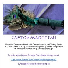All Smudge Fans & Smudge Feathers are some of the most sacred items I offer. All smudge fans and Smudge Feathers may be custom ordered to reflect your intentions. Green Turquoise, Smudging, Dream Catcher, Fans, Just For You, Healing, Create, How To Make, Dream Catchers