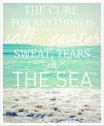 the cure for anything is salt water poster - Google Search