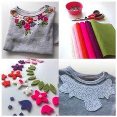 EL JARDIN DE LOS SUEÑOS: DIY camiseta con adornos de fieltro