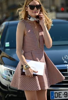 Olivia Palermo in Dior outside the Haute Couture shows in Paris