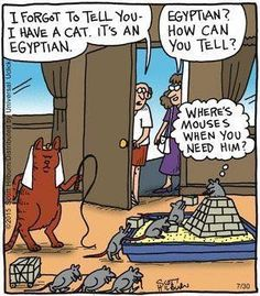 Egyptian cat - The Argyle Sweater by Scott Hilburn.