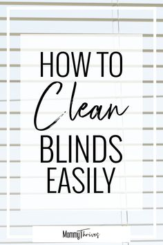 How exactly to reset your house & start a cleaning routine. Having a tidy house saves my sanity as a stay at home mom. Here are my ideas to reset your house back to square one and begin a cleaningroutine to help keep it that way. Cleaning Mini Blinds, Window Cleaning Tips, Deep Cleaning Tips, House Cleaning Tips, Diy Cleaning Products, Cleaning Solutions, Spring Cleaning, Cleaning Hacks, Clean Window Blinds