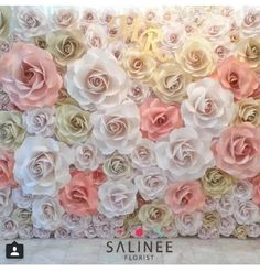 This is pretty gorgeous -- but I still think all white/neutral would be most versatile and lighted Large Paper Flowers, Paper Flower Wall, Tissue Paper Flowers, Giant Paper Flowers, Big Flowers, Flower Wall Backdrop, Paper Flower Backdrop, Flower Decorations, Wedding Decorations