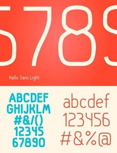 #Free fonts : Hallo Sans by Fredrik Staurland