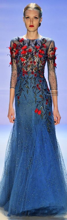 Elie Saab. Red carpet perfection.