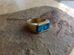 14k Gold Darling Darlene Turquoise Ring by TheJewelryMenders, $705.00