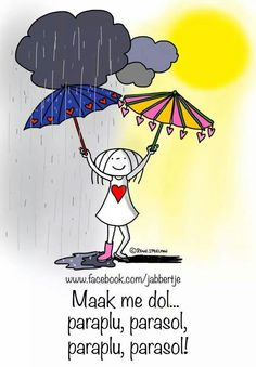Maak me dol: paraplu, parasol. Paraplu, parasol. - Jabbertje