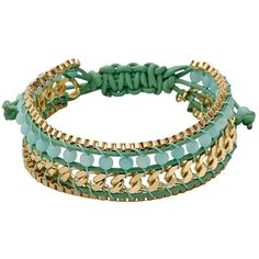 Pilgrim Vilma Beaded Leather Cord Bracelet ($55) ❤ liked on Polyvore featuring jewelry, bracelets, gold, beaded bangles, cord bracelet, rope bracelet, beading jewelry and beads jewellery