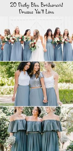 dusty blue wedding color ideas - dusty blue bridesmaid dresses  #weddings #wedding #blueweddings #weddingcolors #weddingideas #dustyblue #beautiful #dresses #bridesmaid #BlackBridesmaidDresses #PeachBridesmaidDresses #UniqueBridesmaidDresses #AfricanBridesmaidDresses #BridesmaidDressesPastel