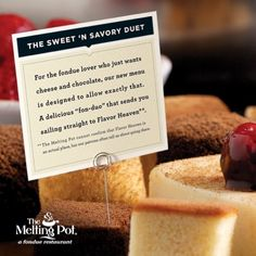 Pin it to win it! Repin this photo and mention @ The Melting Pot to be entered into a random drawing for a $100 Melting Pot gift card and a fondue fanatic t-shirt! The winner will be announced Monday, April 1. Check out our new menu! http://www.meltingpot.com/lp/new-menu.aspx @The Melting Pot
