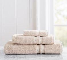 Heathered Hydrocotton Bath Towel, Neutral