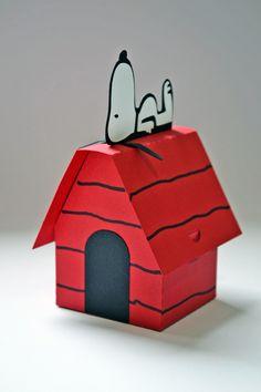 Caixa Casinha do Snoopy scrap