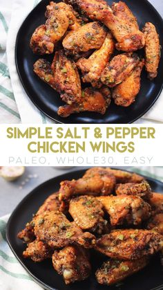 Simple Salt and Pepper Chicken Wings - paleobailey