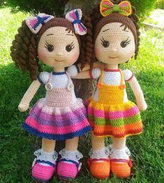 Disney Princess - Free Crochet Pattern - Salvabrani - My WordPress Website Make belle for b and rapunzel for maxie - crochet Amigurumi Do Zero Omggg so cute cute kawaii mini gift or decorv ring amigurumi 2 p.Crochet Pattern for Doll ZOEY pdf Deutsch Crochet Doll Clothes, Knitted Dolls, Crochet Dolls, Crochet Baby, Free Crochet, Crochet Disney, Crochet Doll Pattern, Crochet Patterns Amigurumi, Amigurumi Doll