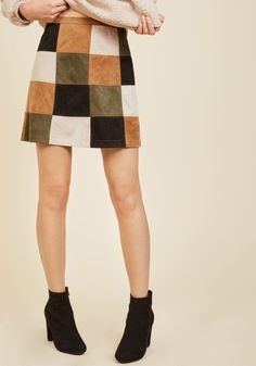 Not a Square in the World Mini Skirt, #ModCloth