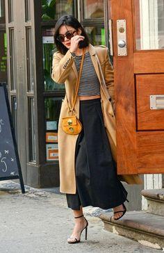 On-Trend Layers - Celeb Street Style: Vanessa Hudgens - Photos