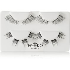Eyeko + Alexa Chung Lash Wardrobe ($22) ❤ liked on Polyvore featuring beauty products, makeup, eye makeup, false eyelashes, black, liquid eyeliner, liquid eye liner and eyeko
