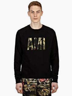 AMI - Men's Black Logo Sweatshirt - €155.12