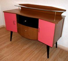 Vintage Retro 60s Lebus Teak Veneer Sideboard
