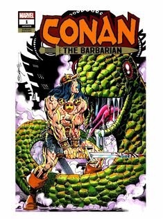Conan the Barbarian Sketch Cover in Color Comic Art