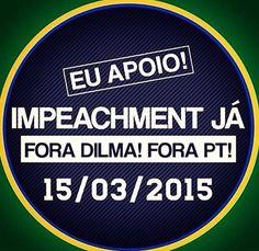 Brasil-Manifestação de 15.03.2015-Frase-Eu apoio! Impeachment já...
