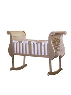 Most fabulous cradle!! Available in antique white, antique silver, and espresso